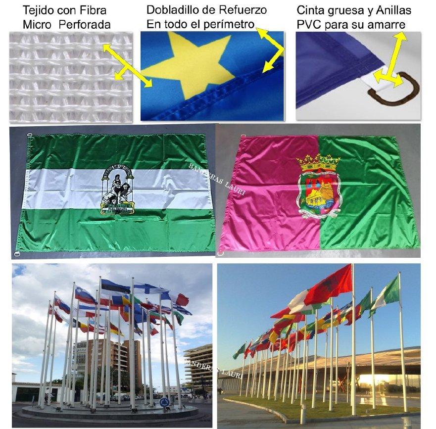 Banderas de Exterior de gran calidad y resitencia