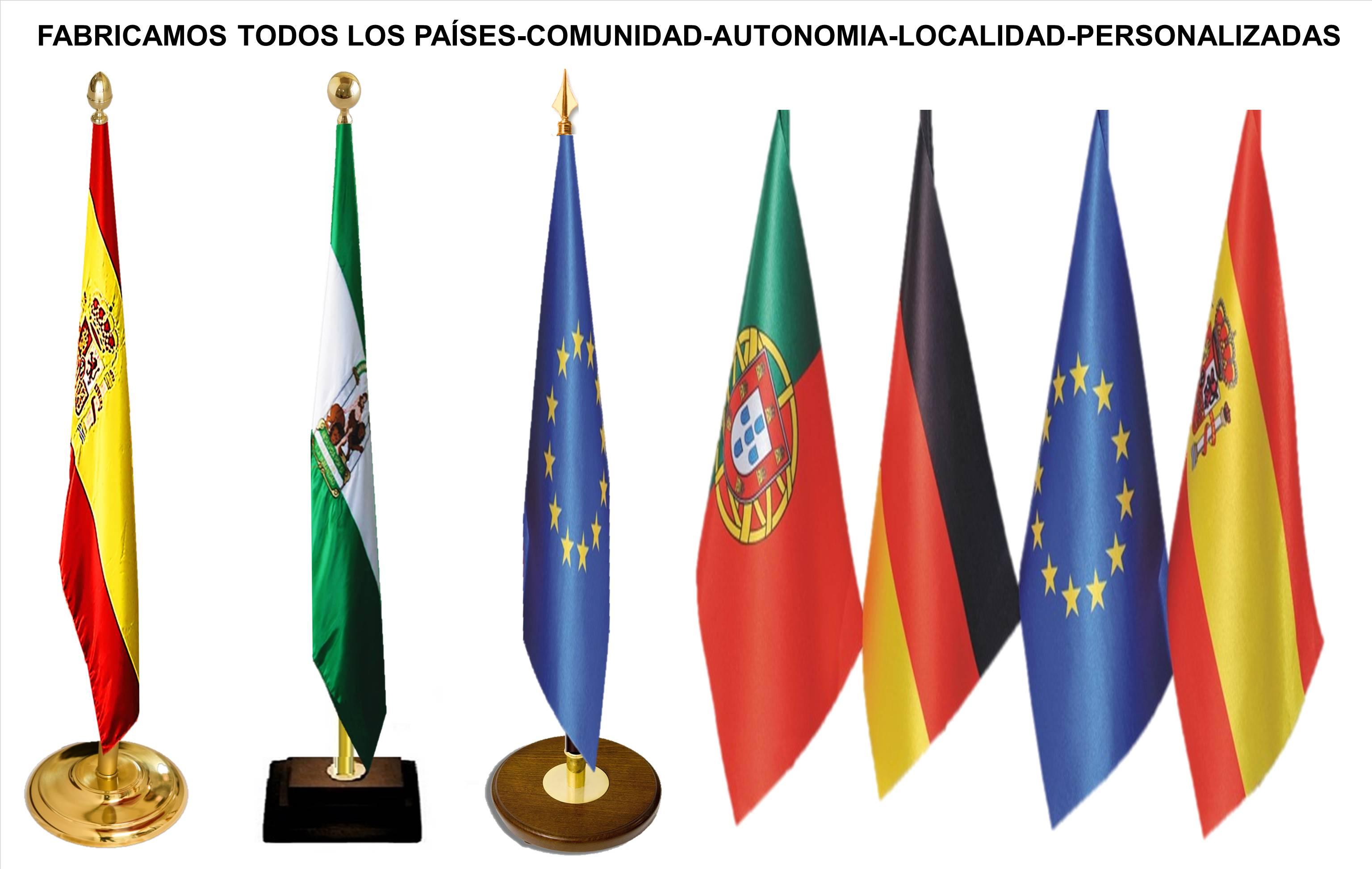 BANDERAS DE PROCOLO ORGANISMOS OFICIALES AYUNTAMIENTOS EVENTOS COLEGIOS OFICINAS DESPACHOS