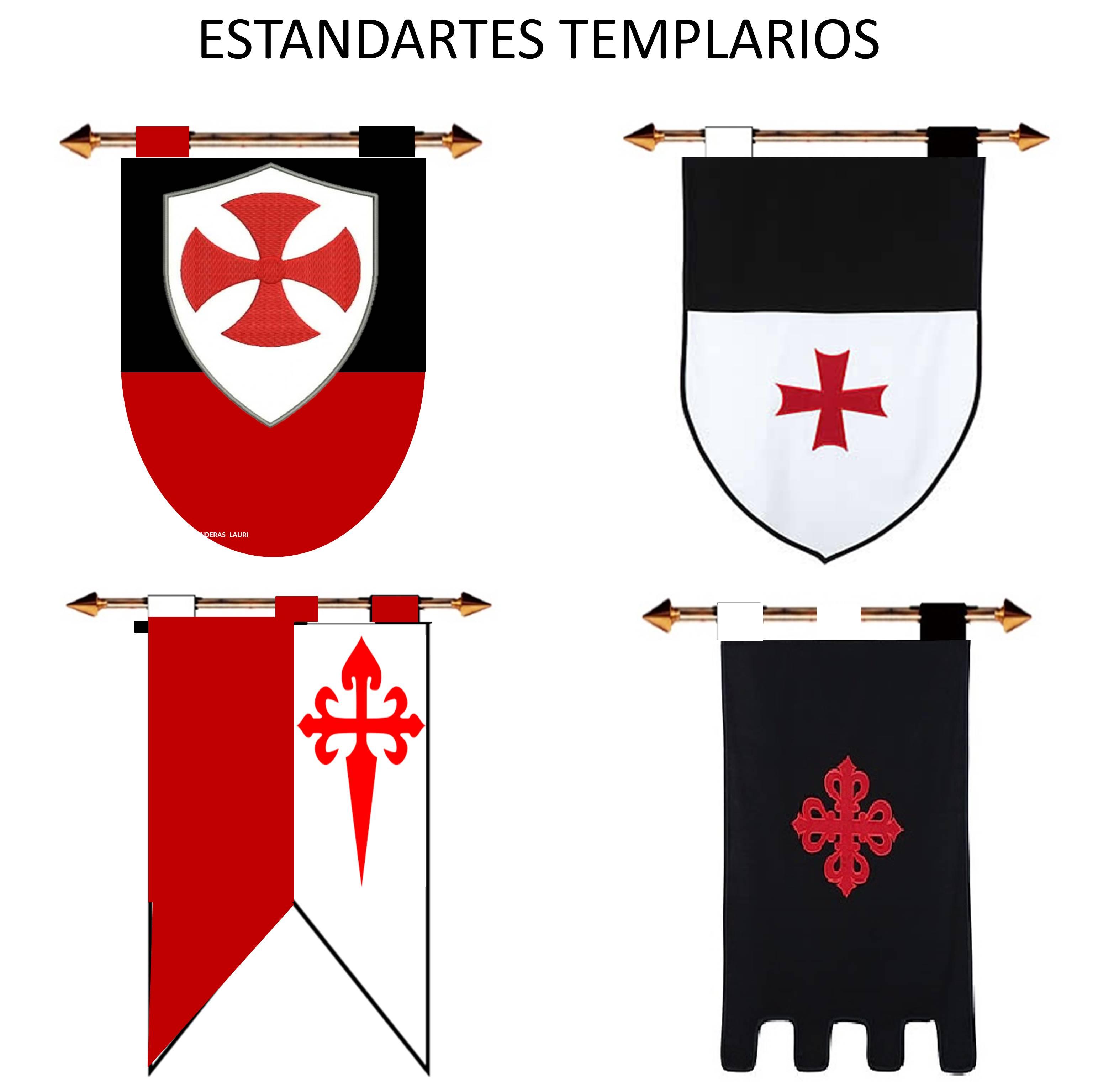 ESTANDARTES TEMPLARIOS MEDIEVALES
