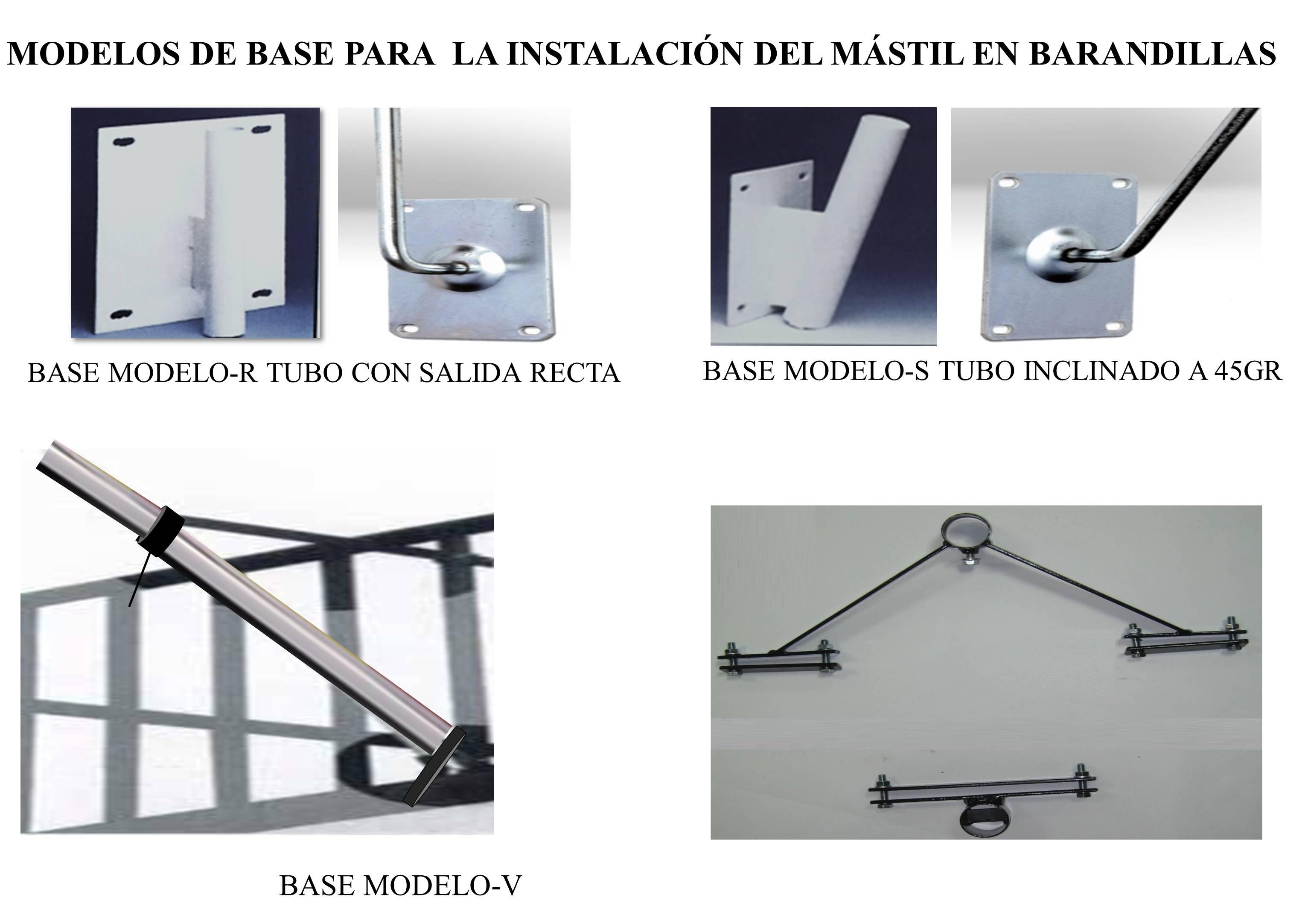 Modelos de Base para los Mastiles