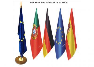 Mástiles Banderas de Interior
