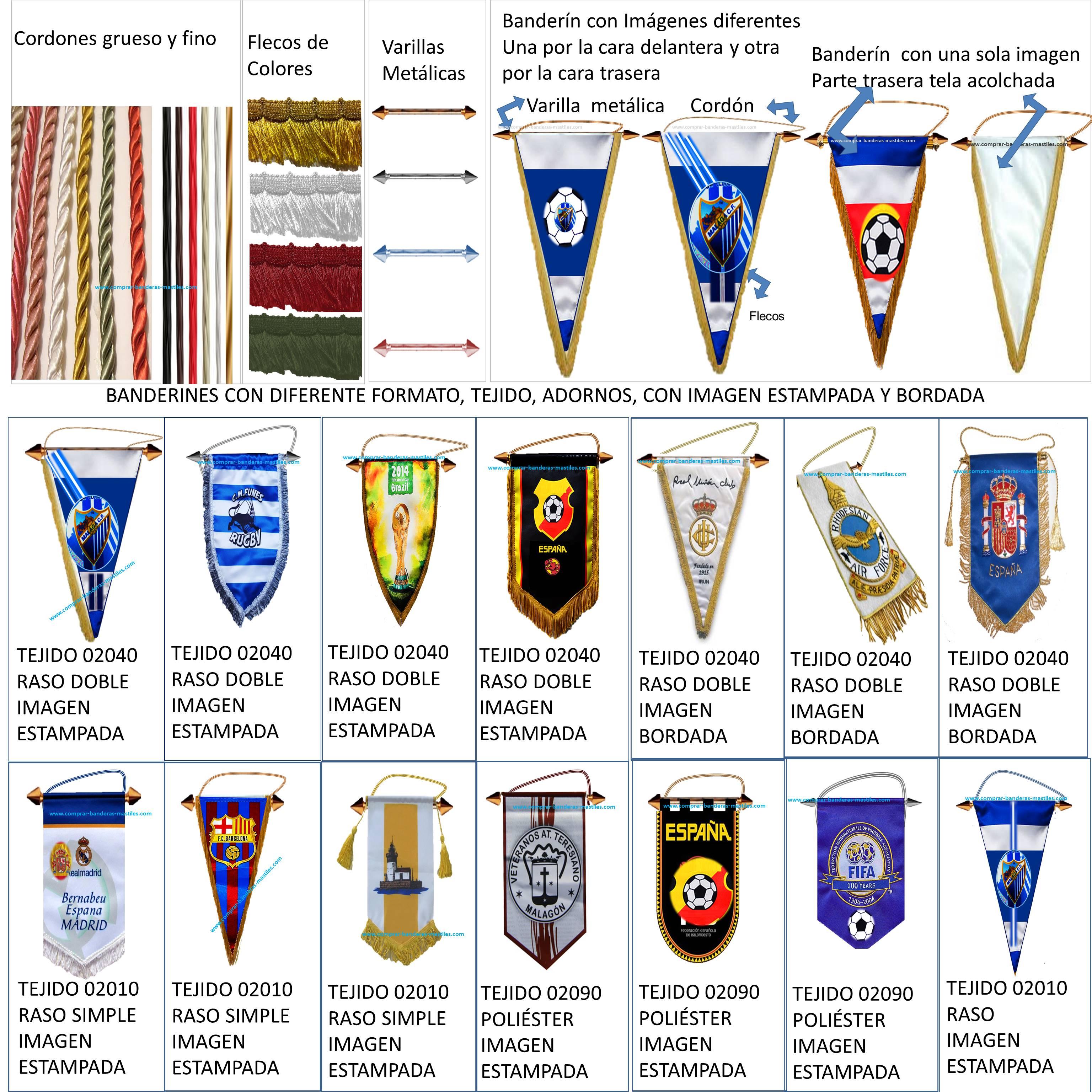 Venta fabrica comprar banderines Clubes Deportivos Equipos de Futbol Personalizados Publicitarios Paises