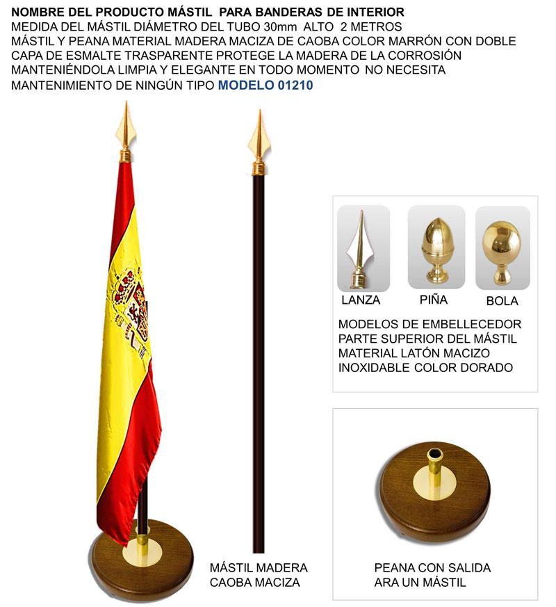 Mástiles para banderas de Interior soporte para una bandera