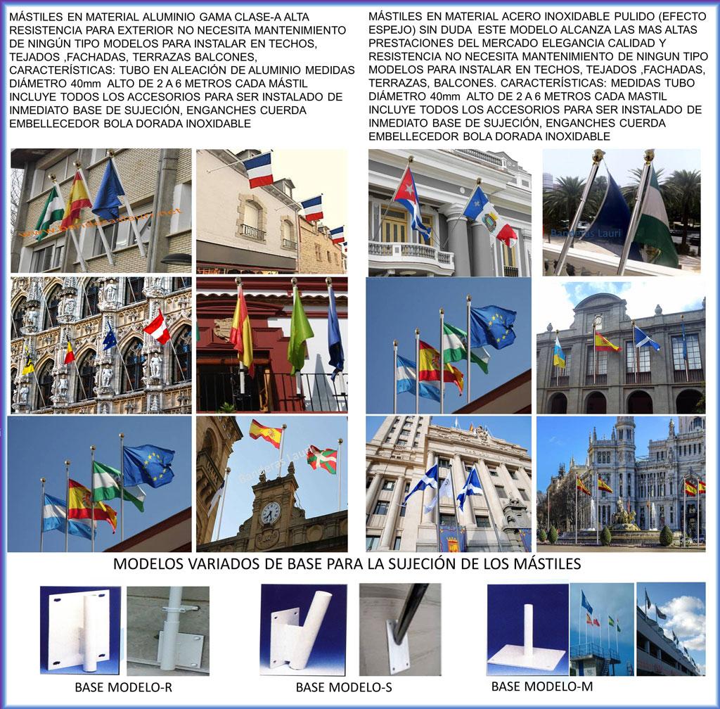 Mástiles de Pared para Techos y Fachadas | Banderas de Exterior