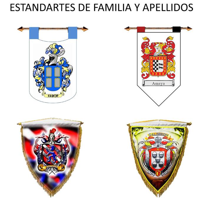 ESTANDARTES DE FAMILIAS APELLIDOS