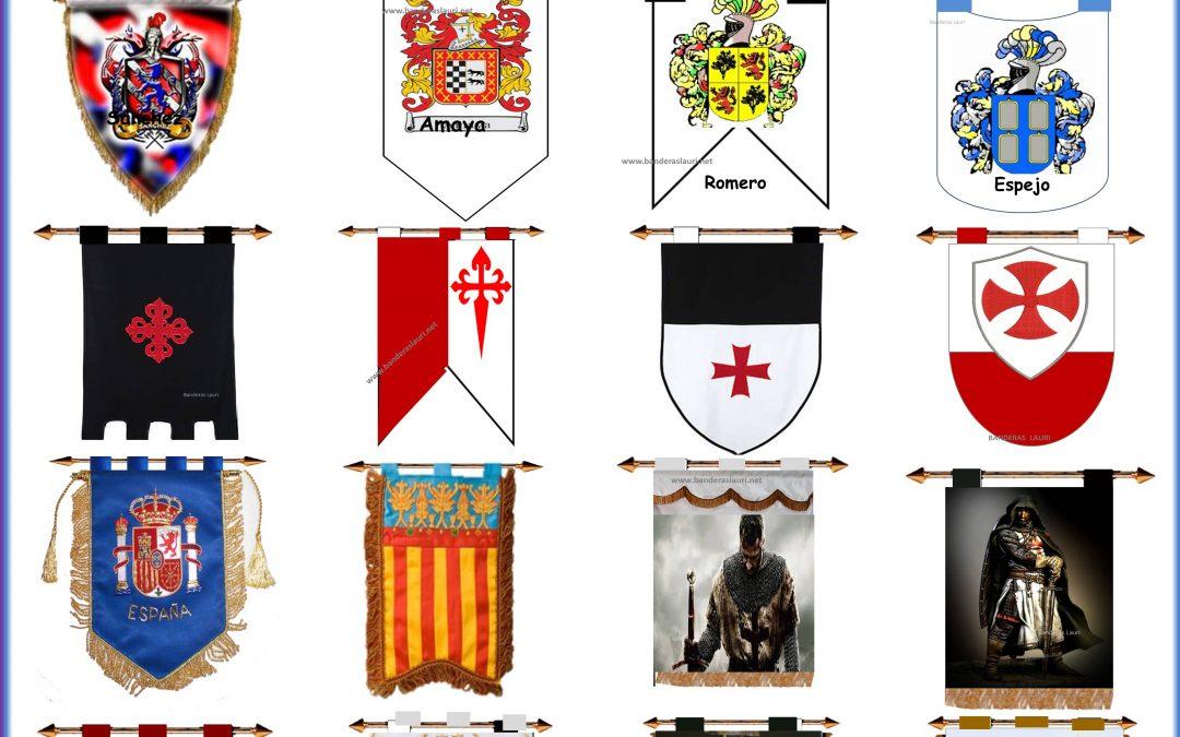 Comprar Estandartes bandas musicales escudos de armas apellidos