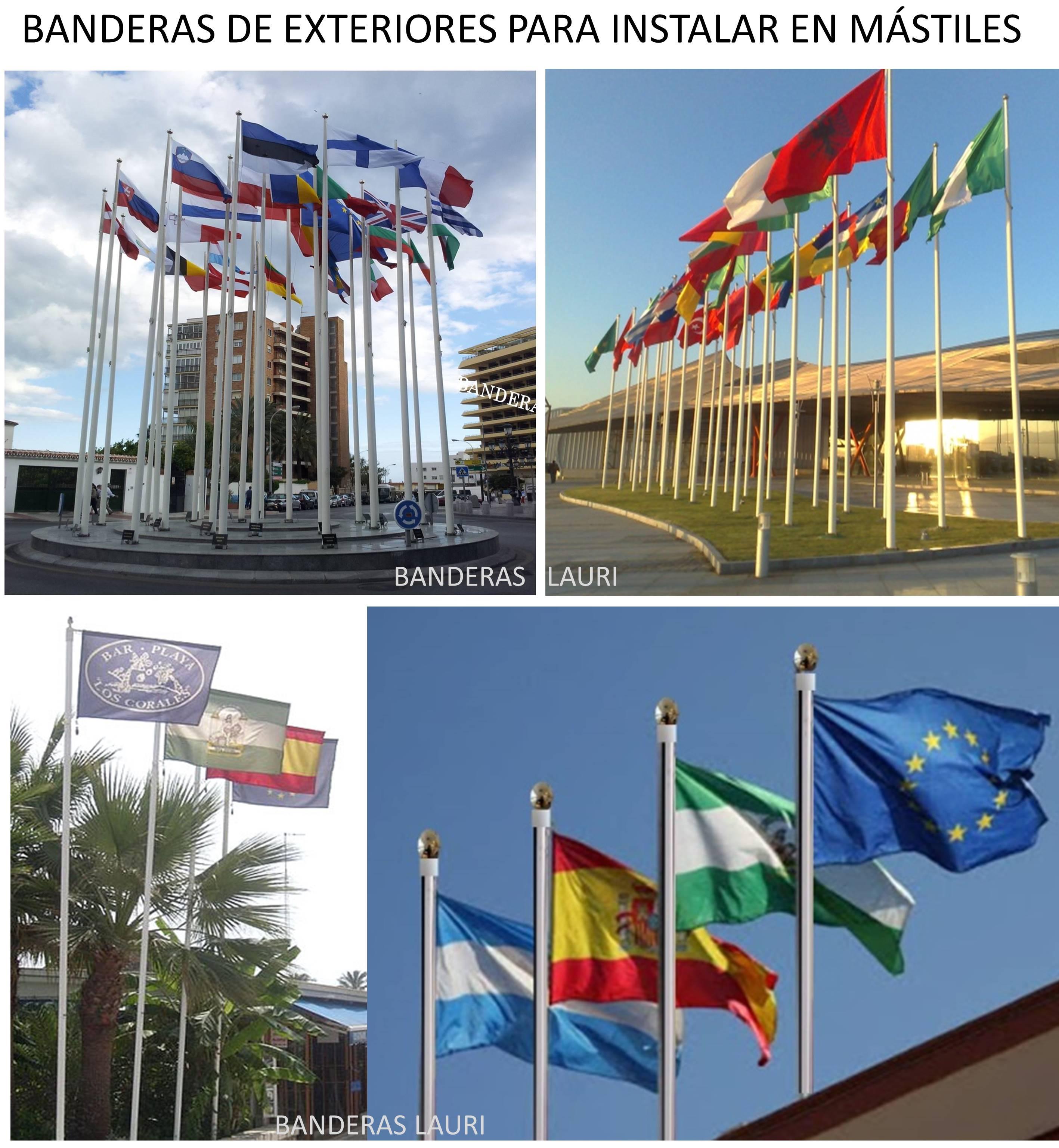 Fabrica de Banderas de Exterior para mastiles de banderas