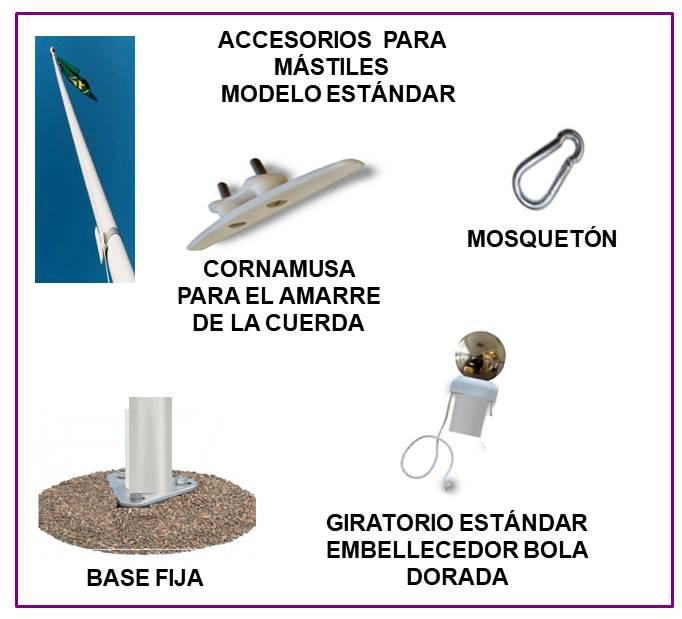 comprar accesorios para mastiles astas para banderas