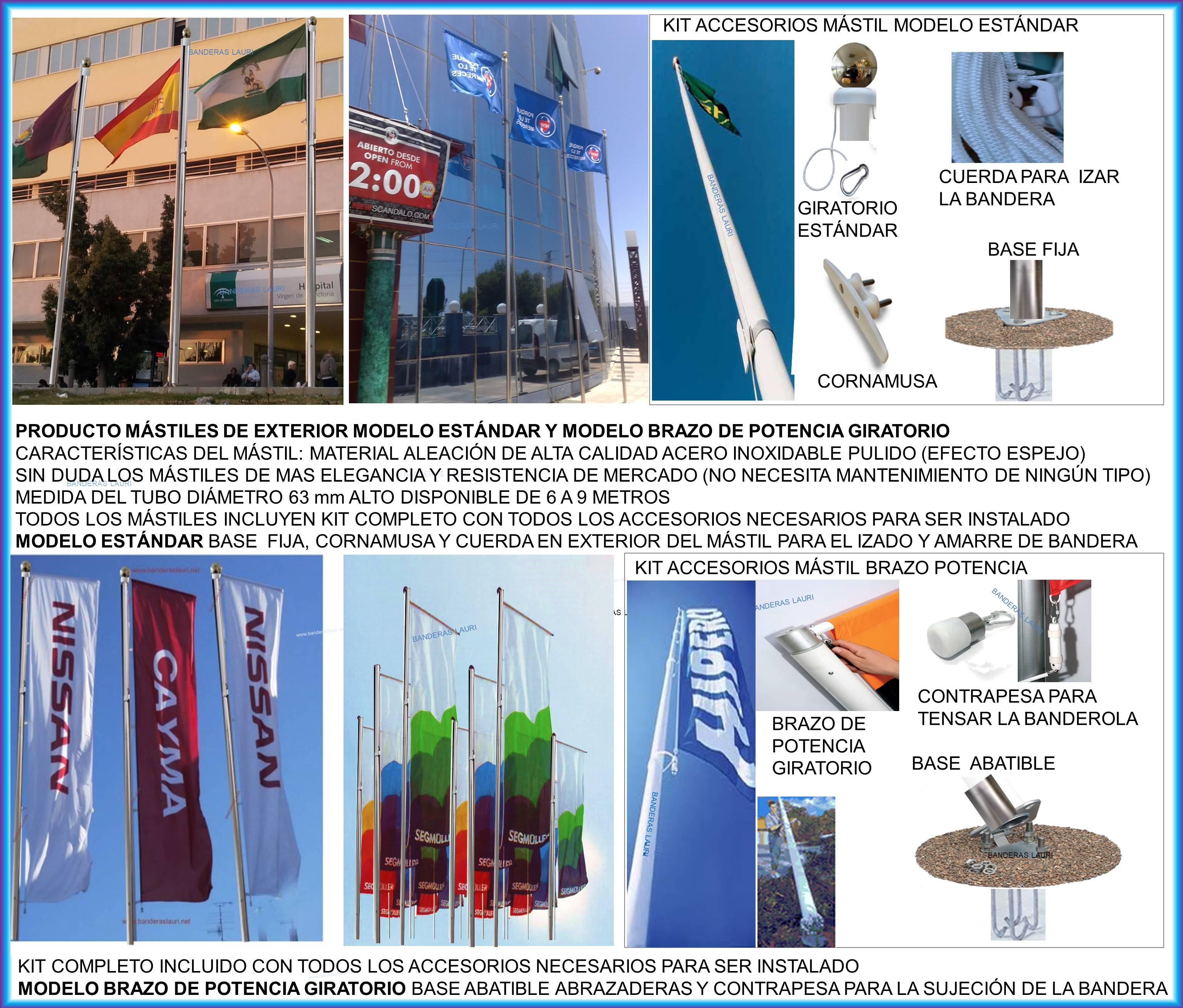 Información SOLICITUD PRECIOS presupuestos Fabrica Venta para Comprar Mástiles y Banderas
