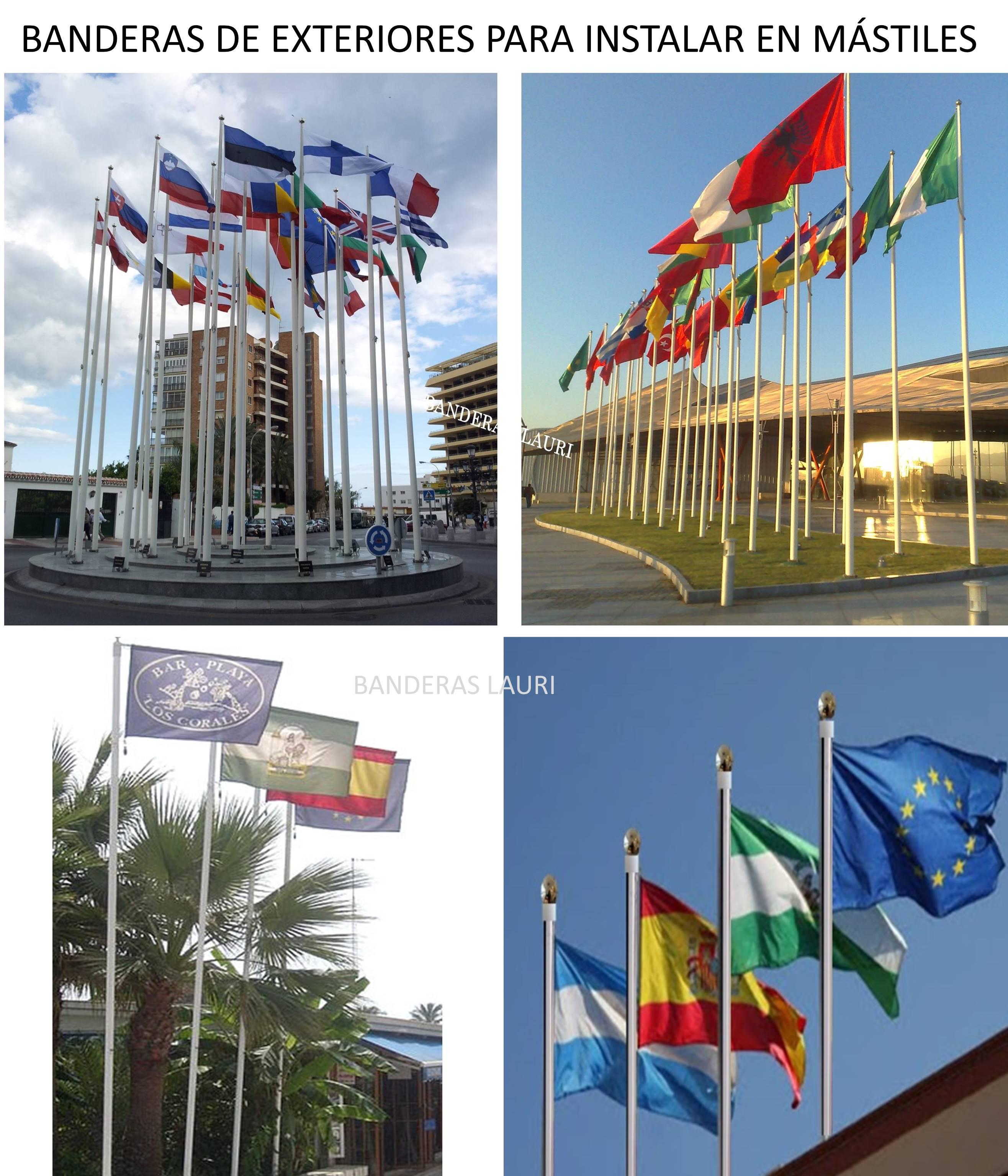 venta de banderas para instalar en mastiles de exteriores