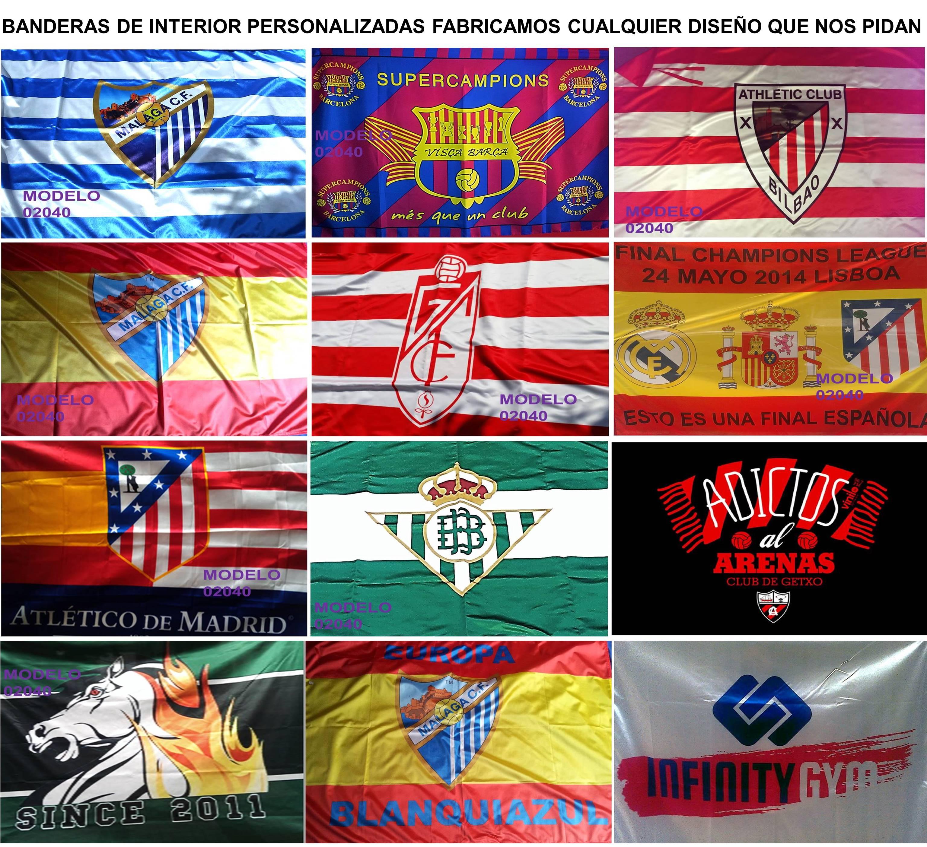 Fabrica de Banderas de interior y exterior personalizadas