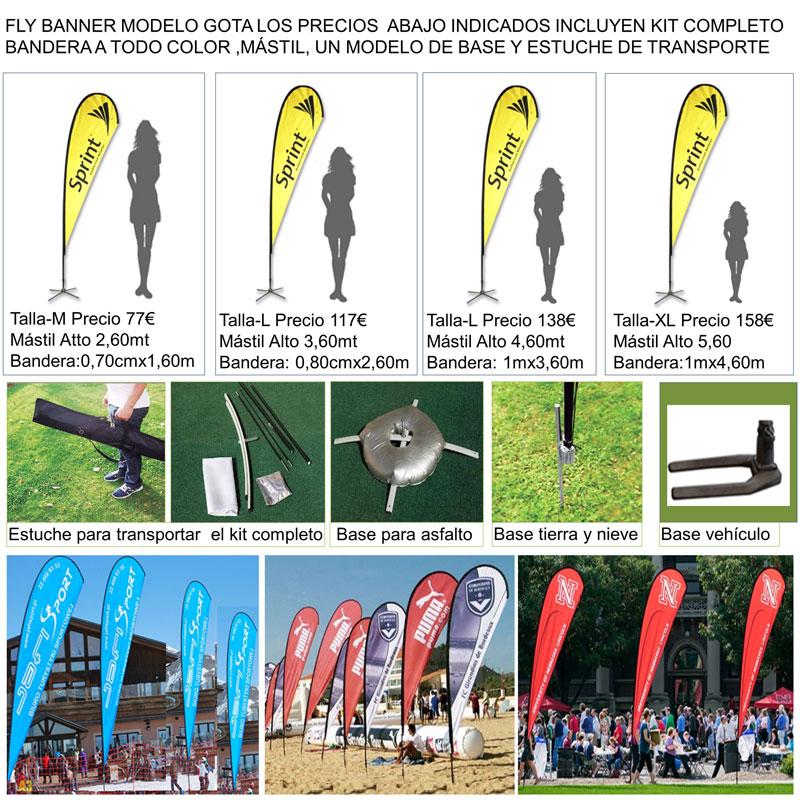 Fly banner modelo GOTA