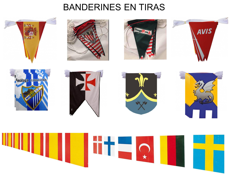 Banderines en cuerda Guirnaldas para colgar