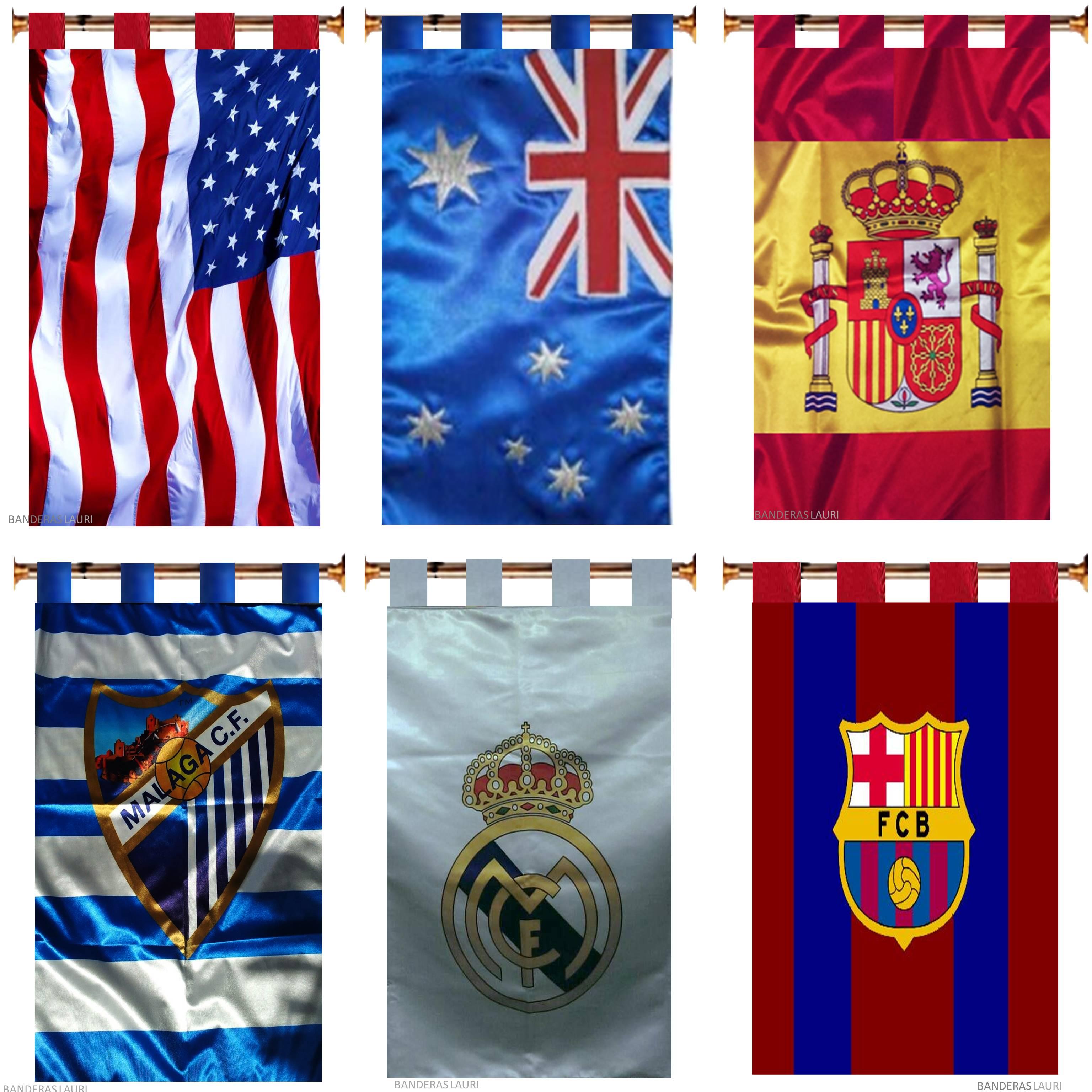 Cortinas Personalizadas de Países y Clubes Deportivos