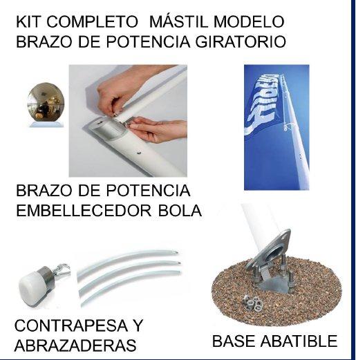 Venta de accesorios para mastiles modelo brazo de potencia giratorio