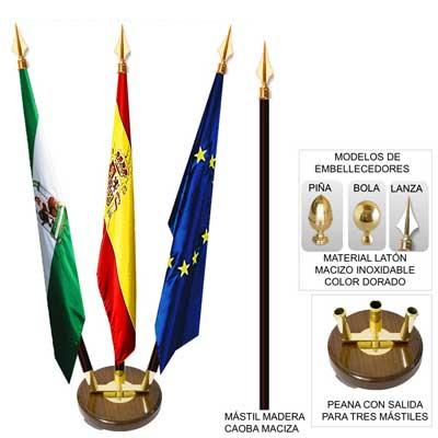 Venta de Banderas | Mástiles de banderas de interior