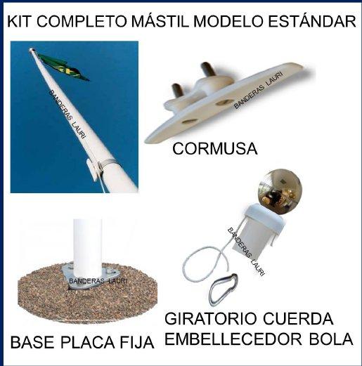 venta de accesorios para mastiles de exterior de aluminio