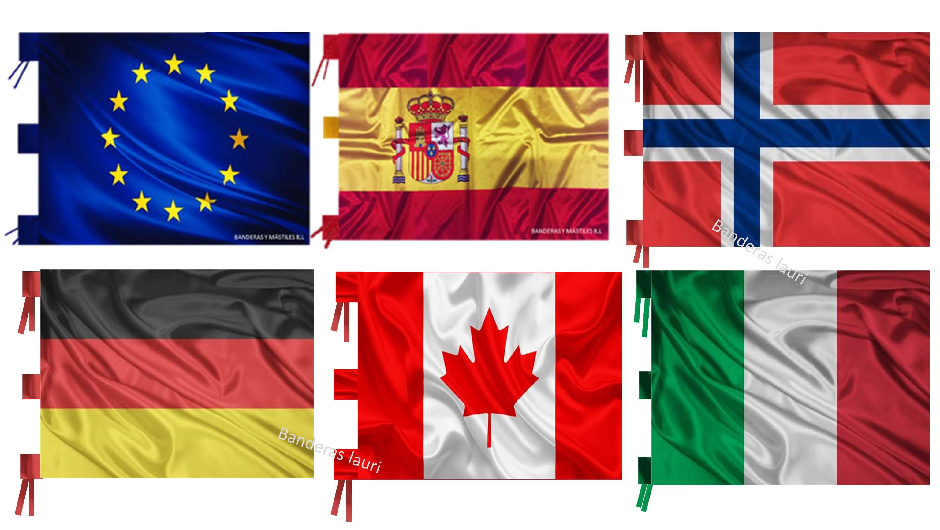 Banderas de interior paises comunidades autonomias provincias ayuntamientos eventos
